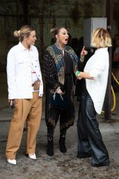 Claire Tregoning, Camilla Franks and Pip Edwards at Afterpay Australian Fashion Week Street Style in Sydney 06/03/2021