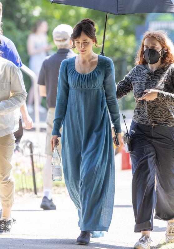 "Dakota Johnson - Filming ""Persuasion"" in Bath 06/23/2021"