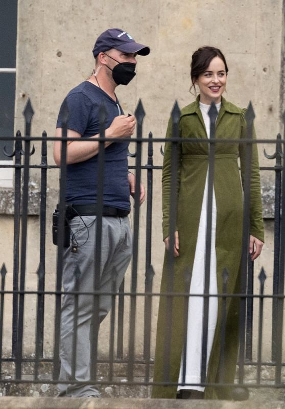 Dakota Johnson - Persuasion: Filming for Big Screen Adaptation of Jane Austen Novel in Bath 06/24/2021