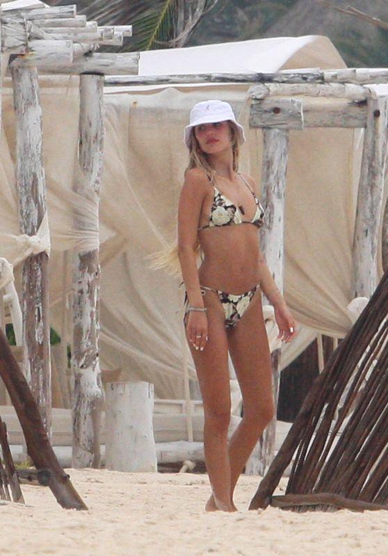 Delilah Hamlin in a Bikini on the Beach in Tulum 06/16/2021