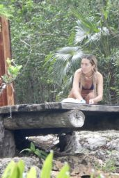 Delilah Hamlin in a Blue Bikini in Tulum 06/12/2021