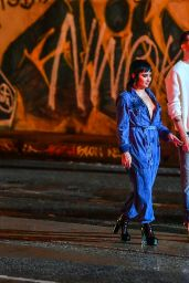 Demi Lovato and G-Eazy on Set of Their Music Video in LA 06/10/2021