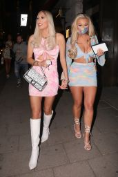 Demi Sims and Frankie Sims at Novikov and Tape Nightclub in London 06/01/2021