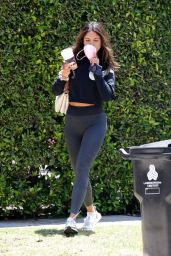 Eiza Gonzalez in Skin-Tight Leggings and a Nike Sweater - West Hollywood 06/02/2021
