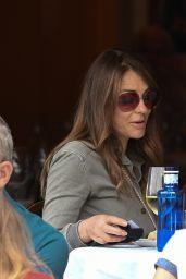 Elizabeth Hurley at Cambio De Tercio Restaurant in Chelsea 06/15/2021