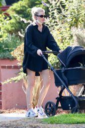 Elsa Hosk in a Black Tuxedo Shirt - Pasadena 06/03/2021