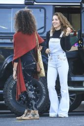 Elsa Pataky Wearing SPELL Flared Overalls - Grocery Shopping in Byron 06/02/2021