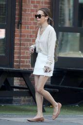 Emilia Clarke in a White Mini Skirt - Shopping in London 06/15/2021