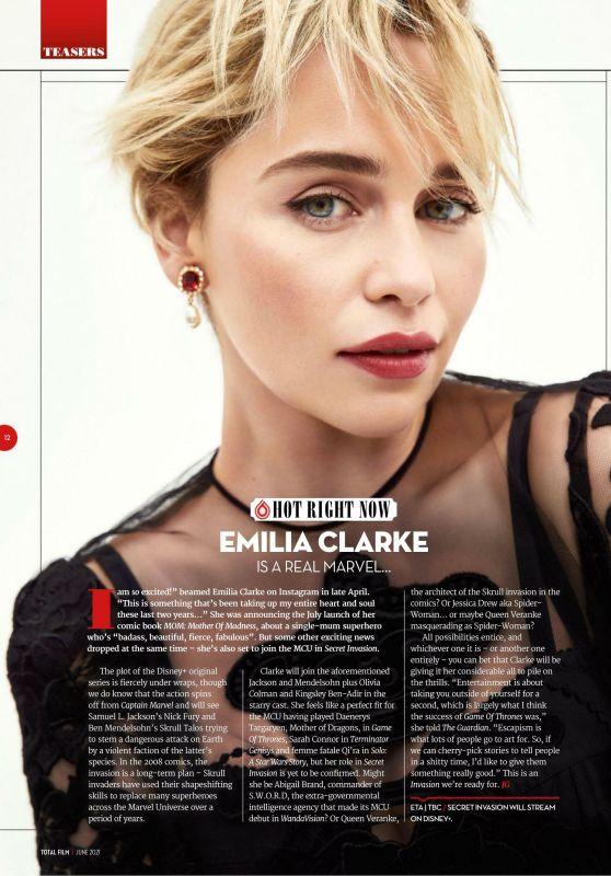 Emilia Clarke - Total Film June 2021