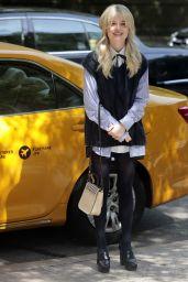 """Emily Alyn Lind - """"Gossip Girl"""" Reboot Filming Set in New York 06/08/2021"""