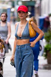Emily Ratajkowski Wears Double Denim - New York City 06/02/2021