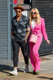 Emma Bunton in Pink With Matching Pink Dior Bag - London 06/08/2021