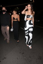 Hailey Rhode Bieber and Kendall Jenner at Stassie
