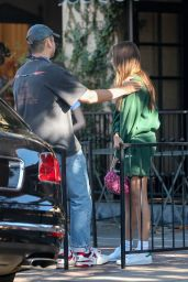 Hana Cross at Alfred Coffee on Melrose Place in West Hollywood 06/09/2021