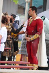 "Helen Mirren as Villain Hespera Alongside Zachary Levi - ""Shazam: Fury of the Gods"" Set in Atlanta 06/21/2021"