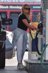 Hilary Duff - Pumping Gas in Studio City 06/15/2021