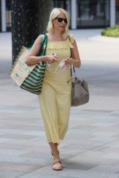 Holly Willoughby in a Yellow Dress - London 06/16/2021