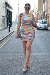 Imogen Thomas in Mini Dress - London 06/12/2021