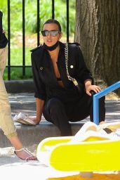Irina Shayk in an All-Black Ensemble in NYC 06/10/2021