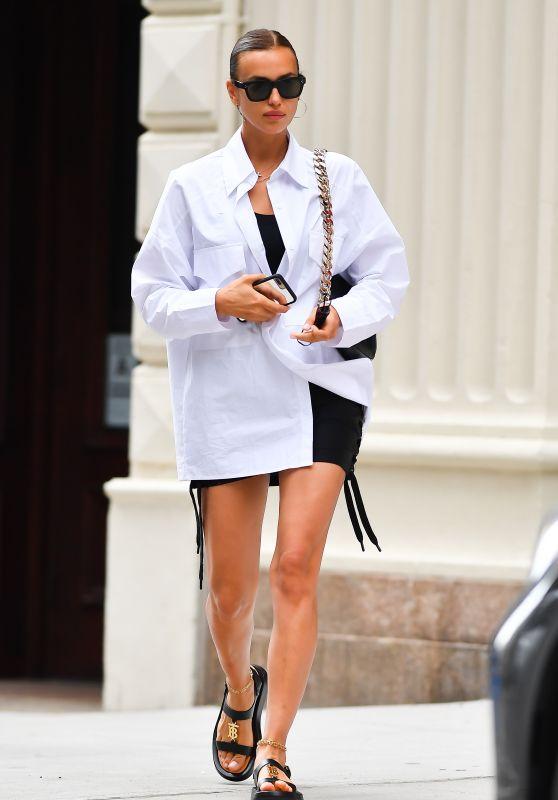 Irina Shayk - Out in New York 06/22/2021