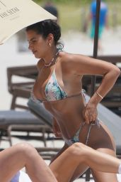 Jehona Dreshaj in a Bikini at the Beach in Miami Beach 06/04/2021