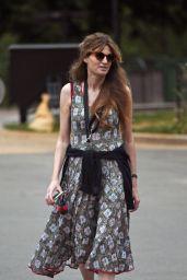 Jemima Khan in a Summer Dress - London 06/10/2021