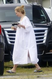 """Jennifer Lawrence Wearing a Flowing White Gown - """"Red, White and Water"""" Set in New Orleans 06/10/2021"""