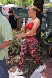 Jennifer Lopez in Gym Ready Outfit - Miami 06/10/2021