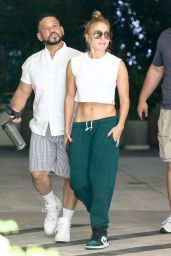 Jennifer Lopez With Her Manager Benny Medina in Miami 06/09/2021