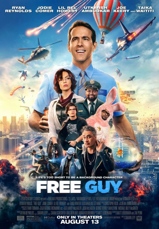 """Jodie Comer - """"Free Guy"""" Poster"""