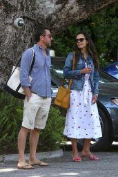 Jordana Brewster and Mason Morfit at the Bel Air Hotel 06/27/2021