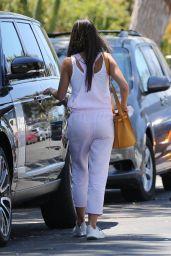 Jordana Brewster Wears a Pink Jumpsuit - Brentwood 06/14/2021