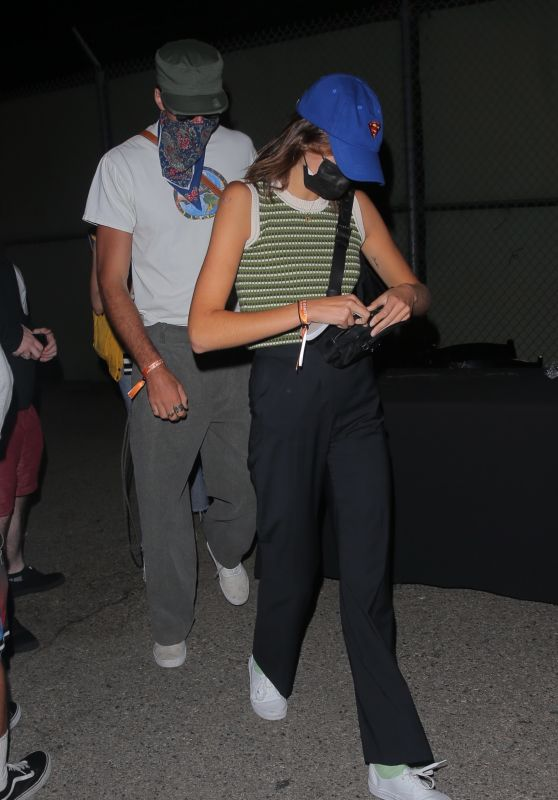"""Kaia Gerber and Jacob Elordi – Leaving Space Jam """"Party in the Park After Dark"""" in Valencia, California 06/29/2021"""