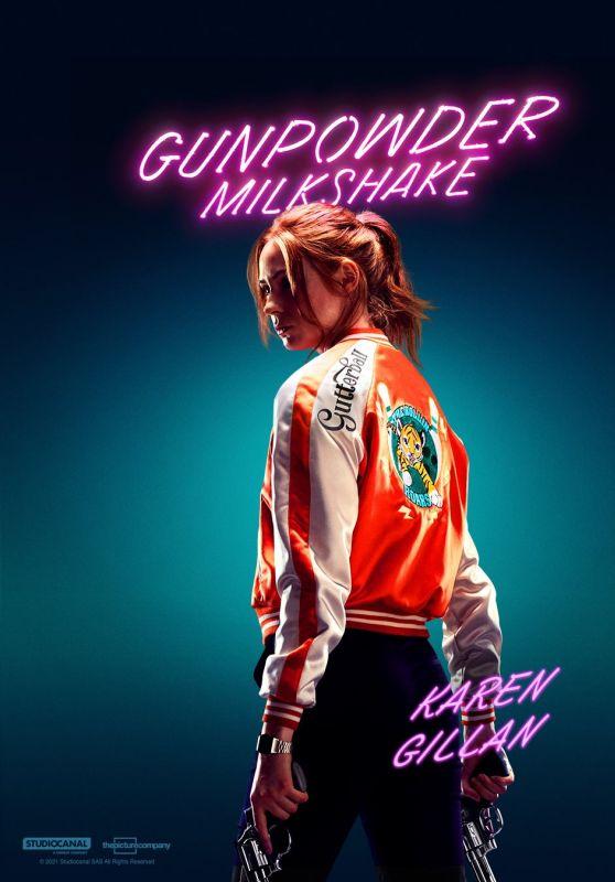 "Karen Gillan - ""Gunpowder Milkshake"" Promo (2021)"