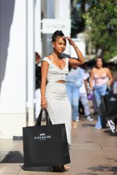 Karrueche Tran at The Grove in West Hollywood 06/28/2021