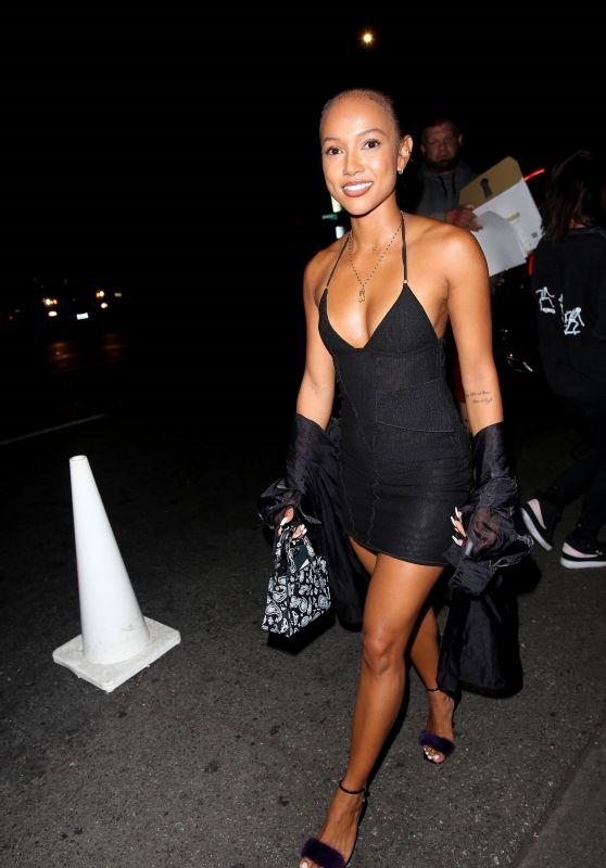 Karrueche Tran in a Little Black Dress - Los Angeles 06/28/2021