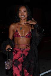 Karrueche Tran Night Out Style - Catch LA in West Hollywood 06/01/2021