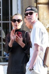 Kate Moss - With Her Daughter Lila Grace Out in Rome 06/27/2021
