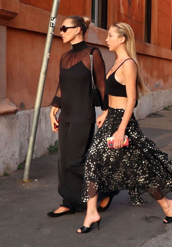 Kate Moss - With Her Daughter Lila Grace Out in Rome 06/27/2021 • CelebMafia