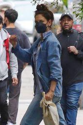 Katie Holmes Wearing All Denim - Running Errands in Manhattan's Downtown Area 06/03/2021