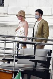 Katy Perry and Orlando Bloom on a Taxi Boat in Venice 06/14/2021
