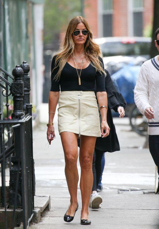 Kelly Bensimon Leggy in Mini Skirt - New York City 06/01/2021