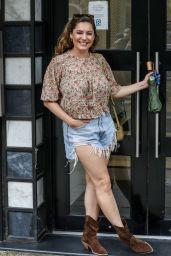 Kelly Brook in Denim Shorts - London 06/17/2021