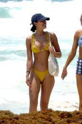 Kelsey Merritt in a Yellow Bikini - Beach in Mexico May 2021