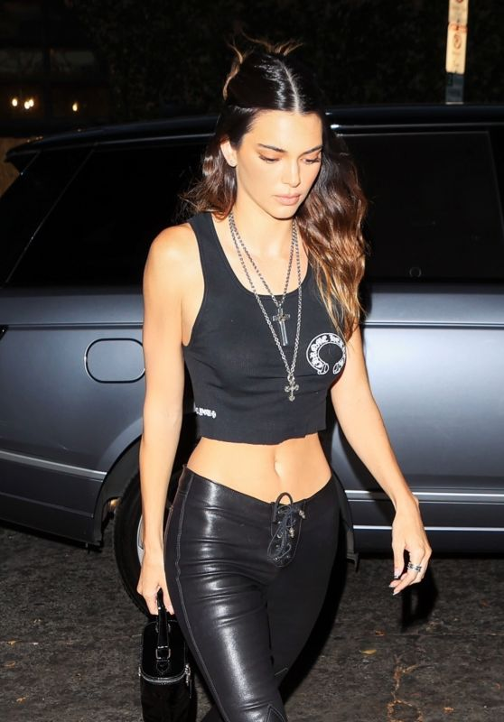 Kendall Jenner Night Out Style - Chrome Hearts in LA 06/10/2021