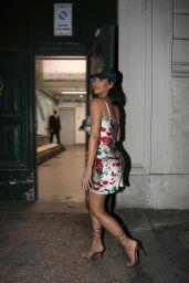 Kim Kardashian in a Floral Silk Dress - Rome 06/29/2021