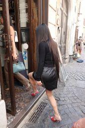 Kim Kardashian in a Tight Black Top - Rome 06/28/2021