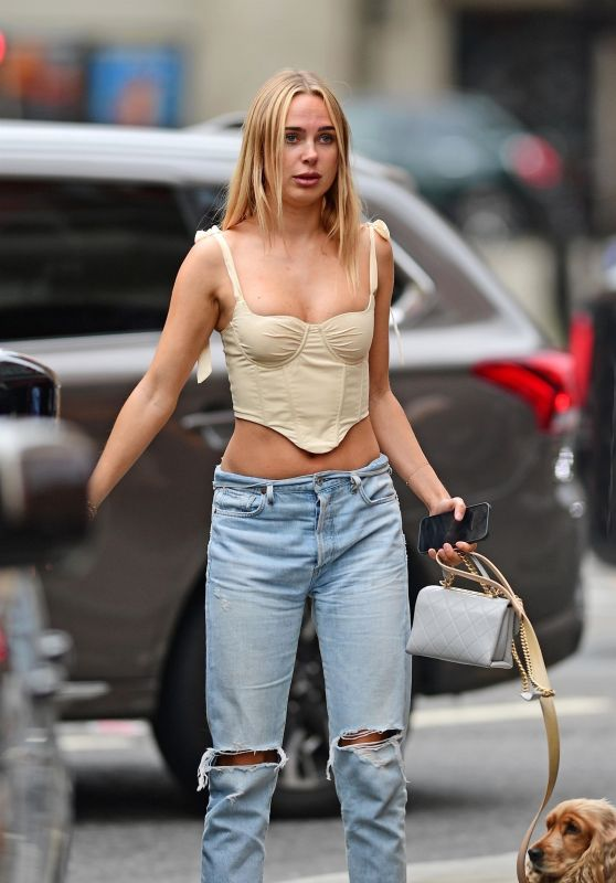 Kimberley Garner in Ripped Jeans - London 06/17/2021