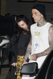 Kourtney Kardashian and Travis Barker at Nobu in Malibu 06/23/2021
