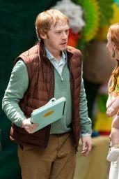"Lauren Ambrose, Nell Tiger Free and Rupert Grint - ""Servant"" Season 3 Set in Philadelphia 06/09/2021"
